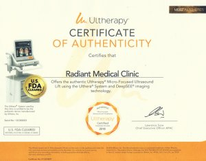 Ulthera Certificate Of Authenticity
