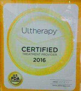 ultherapy certified sticker